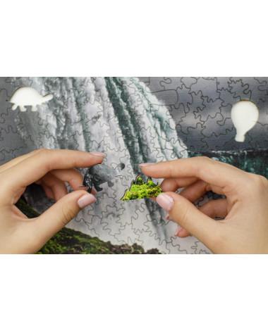 Drewniane Puzzle Wodospad...