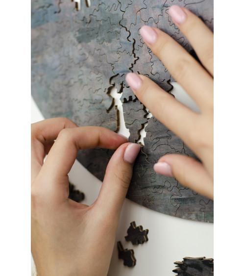Drewniane Puzzle Wrażenie....