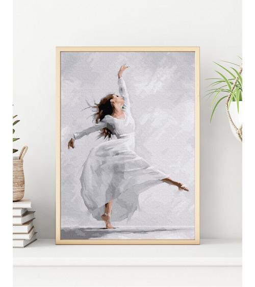 Malowanie po numerach Tańcząca baletnica