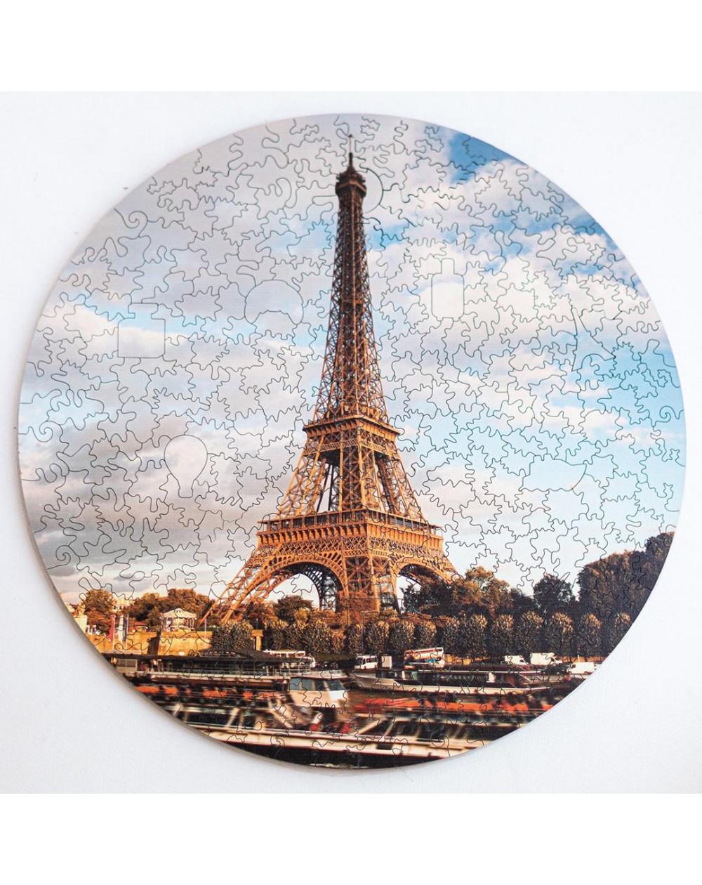 Drewniane Puzzle Wieża Eiffla
