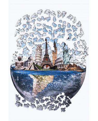 Drewniane Puzzle Światowe...
