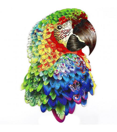 Drewniane Puzzle Śliczna papuga