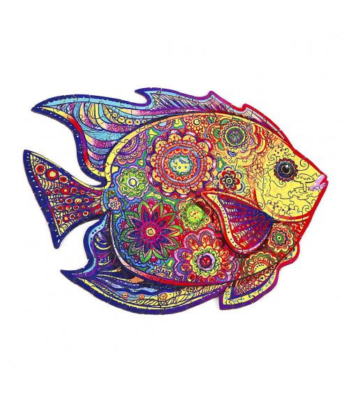 Drewniane Puzzle Lśniąca ryba