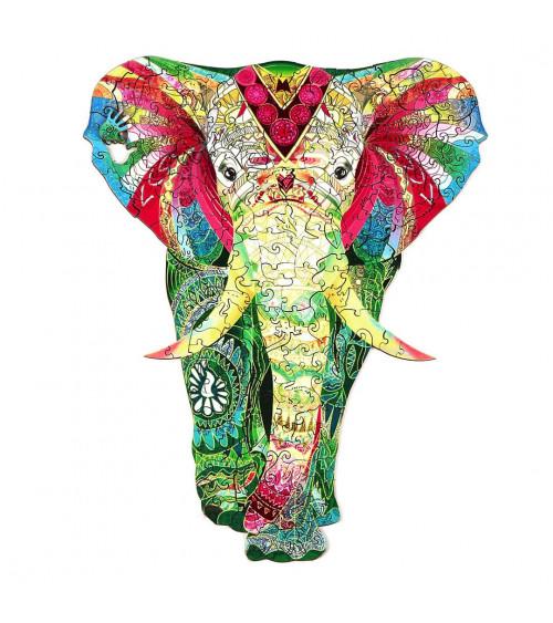 Drewniane Puzzle Lśniący słoń