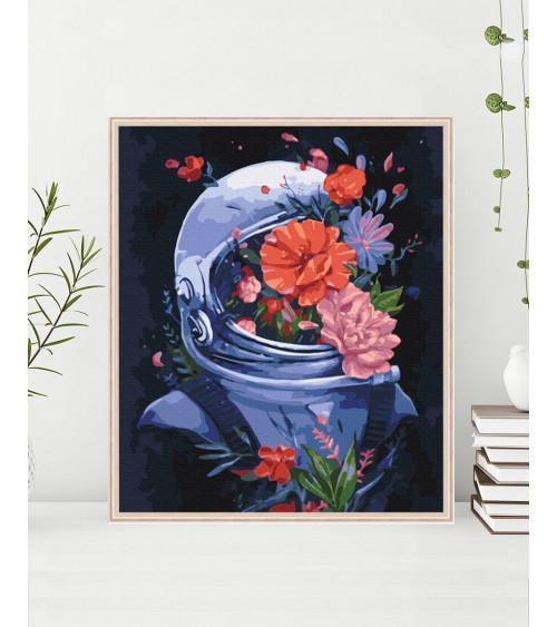 Malowanie po numerach Kosmiczne kwiaty