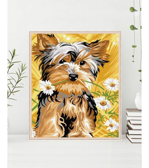 Malowanie po numerach Słodki pies