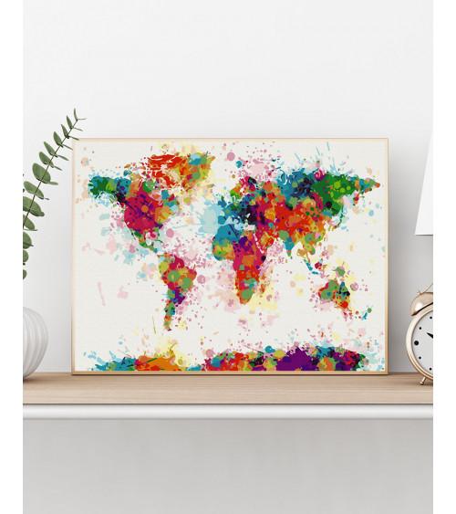 Malowanie po numerach Kolorowa mapa