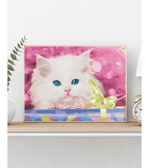 Malowanie po numerach Kot w prezencie