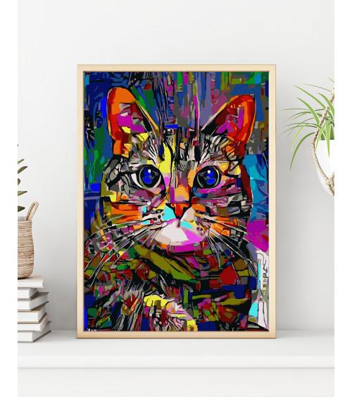 Malowanie po numerach Jasny kot