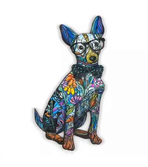 Drewniane Puzzle Pies-dżentelmen