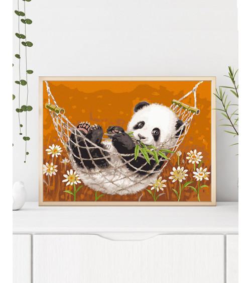 Malowanie po numerach Panda w hamaku