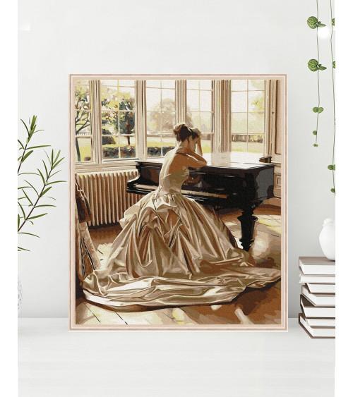 Malowanie po numerach Przy fortepianie