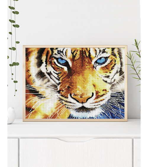 Mozaika diamentowa Tygrysie spojrzenie