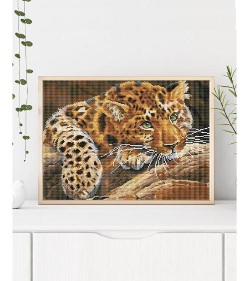 Mozaika diamentowa Jaguar