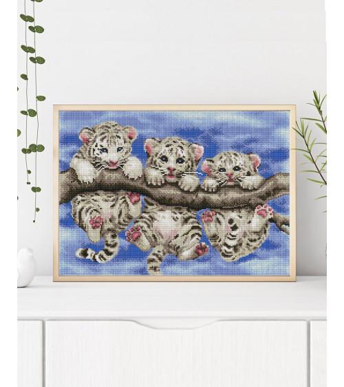 Mozaika diamentowa Trzy tygrysy