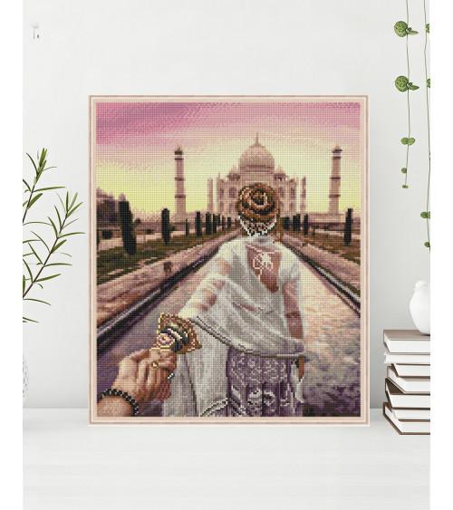 Mozaika diamentowa Chodź za mną. Taj Mahal