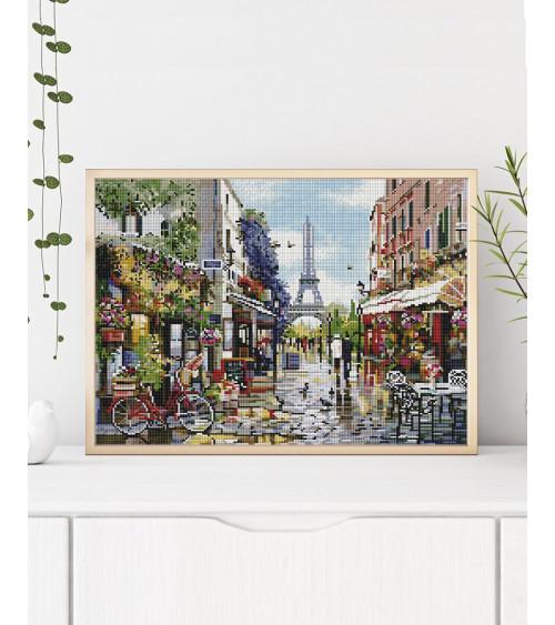 Mozaika diamentowa Kwiatowy Paryż
