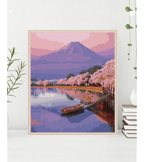 Malowanie po numerach Japońska estetyka