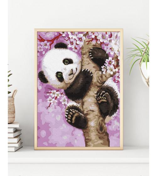 Malowanie po numerach Figlarna panda