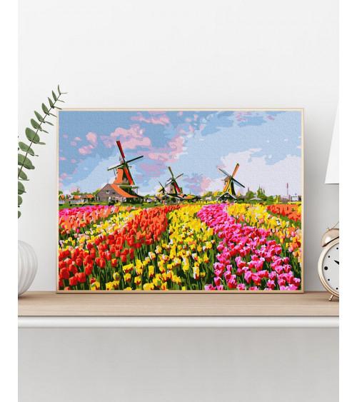 Malowanie po numerach Pole tulipanów
