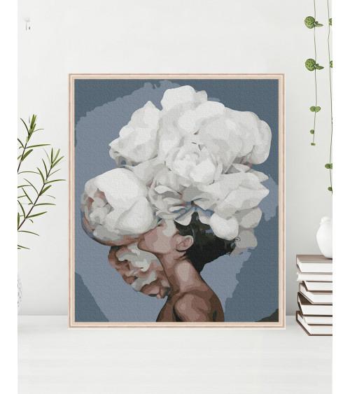 Malowanie po numerach Kobieta kwiat