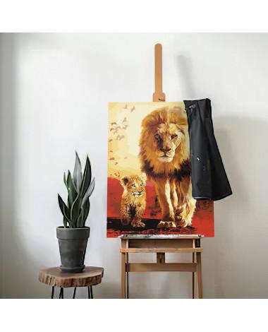 Malowanie po numerach Król Lew