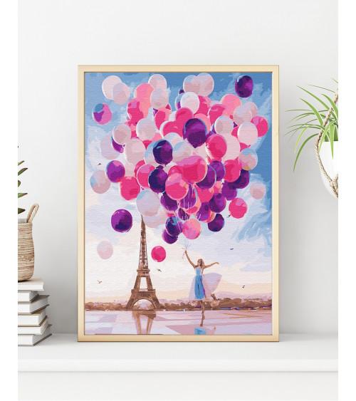 Malowanie po numerach Szczęście w Paryżu