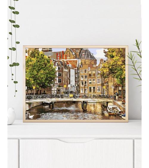 Malowanie po numerach Stary Amsterdam