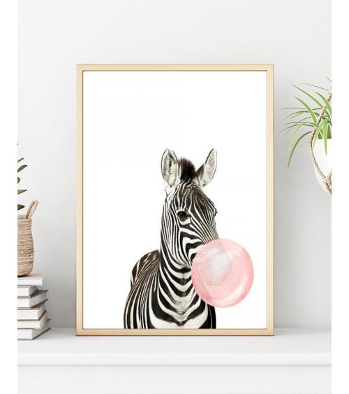 Malowanie po numerach Zebra...