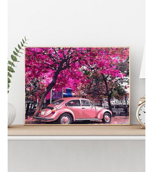 Malowanie po numerach Kwitnący parking