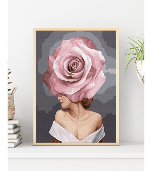 Malowanie po numerach Dziewczyna-kwiat. Urok